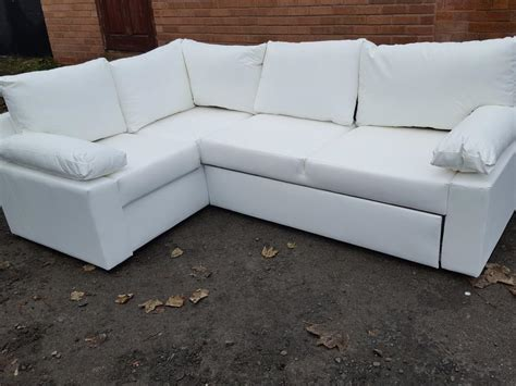 White Leather Corner by Brand New White Leather Corner Sofa Bed With Storage Can