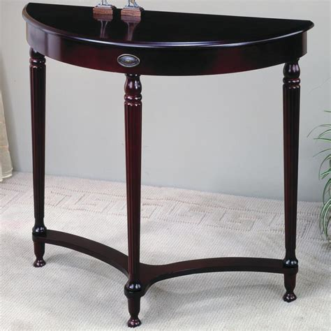 accent entry table cherry wood finish entry accent hall table by coaster ebay