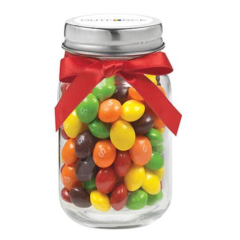 Skittles Jar 4 oz glass jar w skittles usimprints