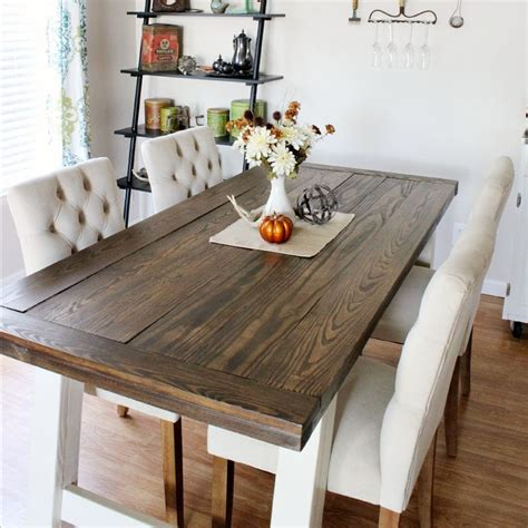 diy farmhouse style dining table the kolb corner