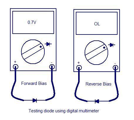 how to check diode from multimeter projects for ece testing of diode