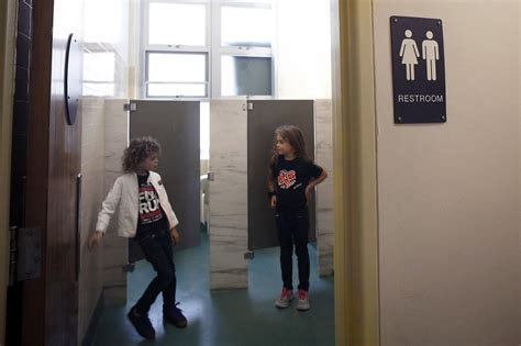 women going to bathroom san francisco elementary school adopting gender neutral
