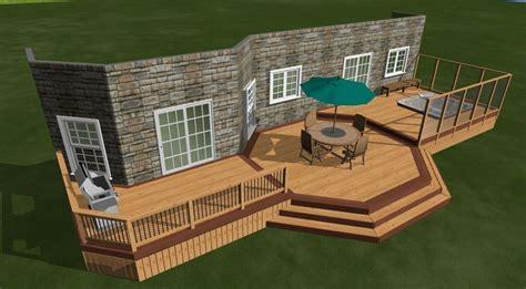 Patio Design Plans Free 3d Deck Project