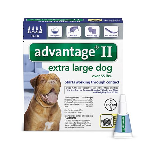 advantage ii for dogs advantage ii once a month topical flea treatment for dogs puppies 55 lbs petco