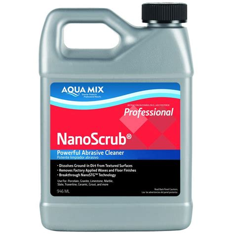 Nano Technology Cosmetic Cleaning Isi 2 Buah custom building products aqua mix 1 qt nano scrub cleaner 100978 4 the home depot