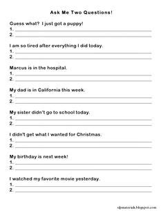 Executive Function Worksheets For Adults by Wh Questions In Response To A Simple Sentence Can Target