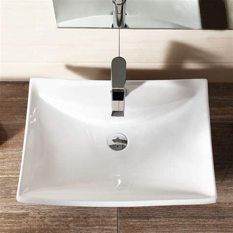Modern Corner Bathroom Sinks Modern Rectangle White Ceramic Corner Top Basin Sink
