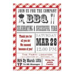 company barbecue invitation 5 quot x 7 quot invitation card zazzle