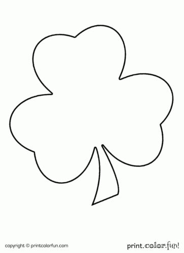 printable coloring page of a shamrock shamrock for st patrick s day coloring page print color