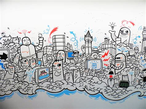Doodle Yang Menarik Di Dinding Pejabat 24