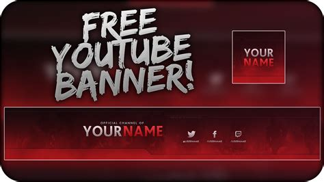 youtube banner template psd direct  link