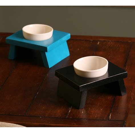 designer floating pet dish small dog or cat elevated food bowl designer cat or small dog food bowls single pet food bowl