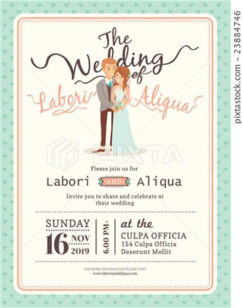 Newlywed Card Template by Wedding Wedding Card Template ภาพประกอบ