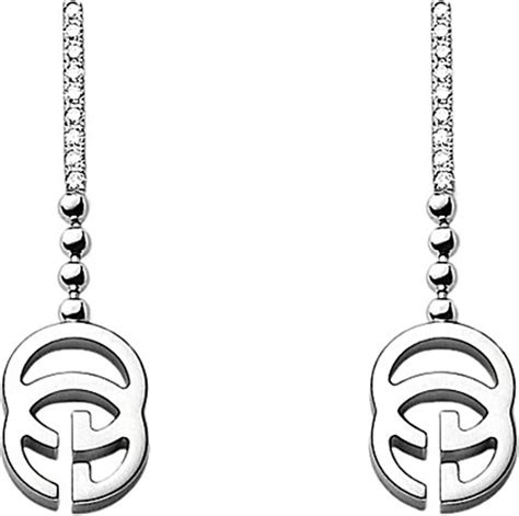 Gucci G063 White List Gold gucci running g 18ct white gold and earrings