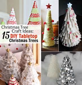 Christmas Tree Decorations Craft Ideas - christmas tree craft ideas 15 diy tabletop christmas trees allfreeholidaycrafts com