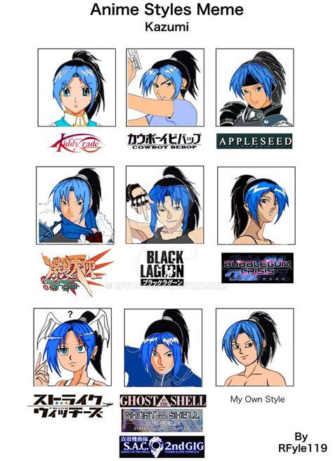 anime style anime styles meme by rfyle119 on deviantart