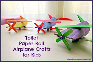 toilet paper roll airplane crafts for kids