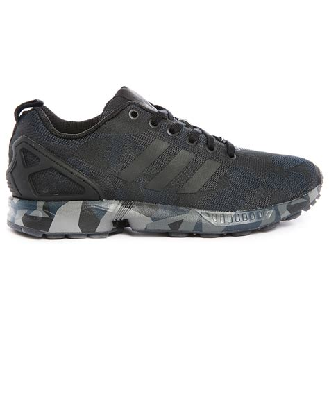 adidas mesh sneakers adidas originals zx flux mesh black camouflage sneakers in