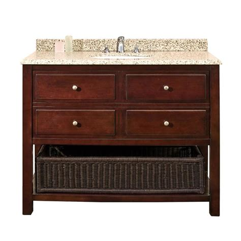 42 bathroom vanity with granite top shop ove decors danny chocolate undermount single sink