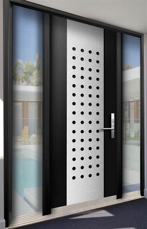 modern contemporary wood door  stainless steel design