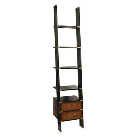 leaning ladder bookshelves plans for office