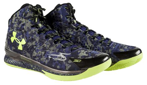 camouflage basketball shoes lot detail stephen curry signed and inscribed pair of
