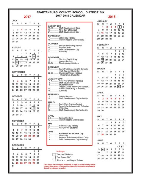 New Zealand Calendrier 2018 Spartanburg Dist Six On Quot The 2017 2018 District