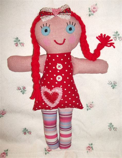 Handmade Cloth Dolls - shabby handmade fabric rag dolls