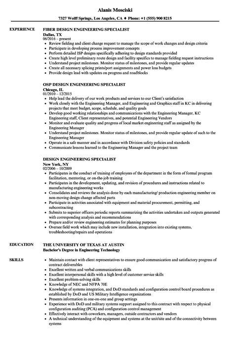 Osp Engineer by Osp Design Engineer Sle Resume Recruiter Sle Resume