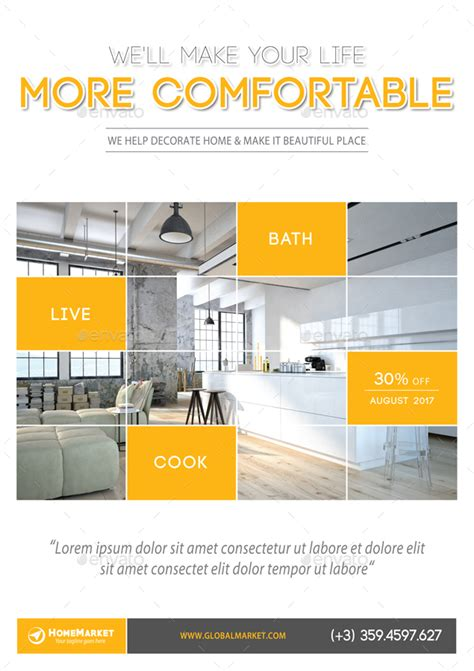 layout v11 interior design poster template v11 by rapidgraf
