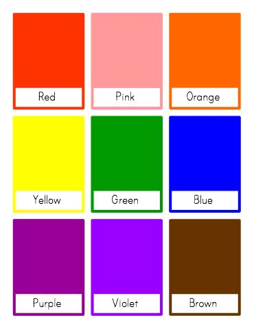 color flash customizable and printable color flash cards toddler