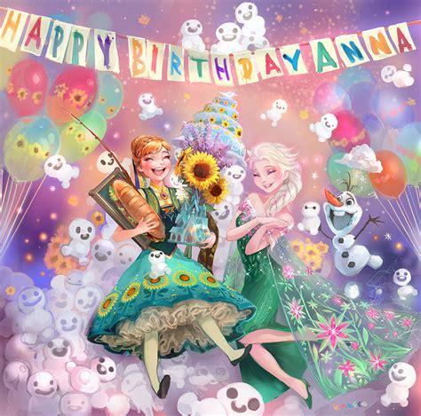 film frozen happy birthday anna frozen fever elsa and anna fan art 38319811 fanpop