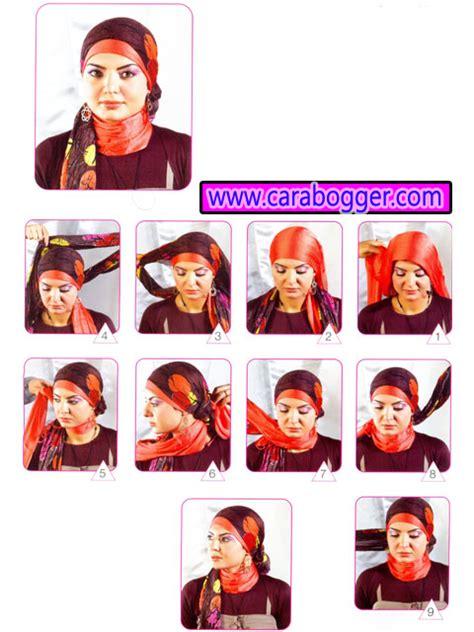 Kotak Bulat Segitiga cara memakai jilbab modern