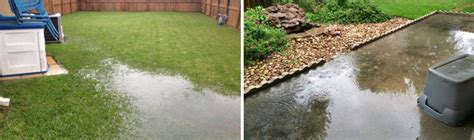 backyard flooding problems backyard drainage problems solutions gill landscape