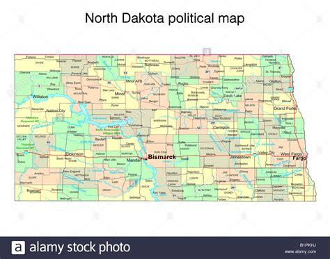 political map of dakota dakota state political map stock photo royalty free