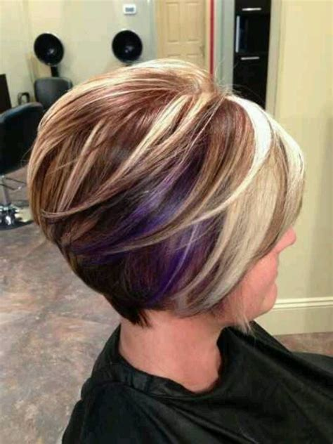 very short hairstyle with highlights lift and a bump on 160 best images about hair styles on pinterest inverted
