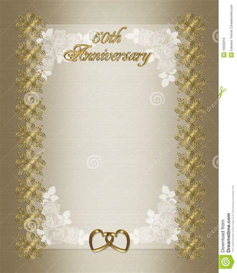50th wedding anniversary invitations templates free wedding program border microsoft word studio design