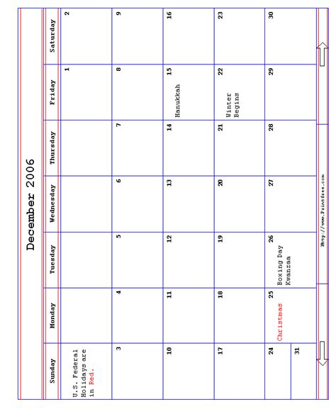 December 2006 Calendar December2006 Gif