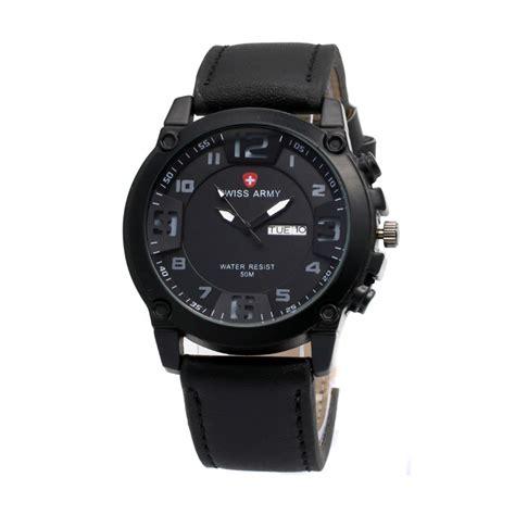 jual swiss army 002 jam tangan pria harga kualitas terjamin blibli