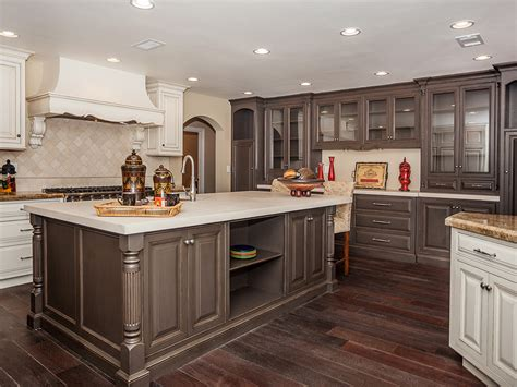 two tone painted kitchen cabinets the ideas of decorating kitchen with two tone kitchen