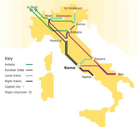 Italy Rail Map by Italy Train Rail Maps