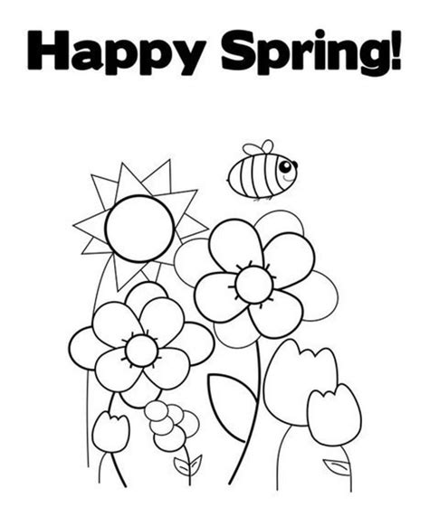 spring coloring pages printable ideas coloring pages free happy spring coloring pages designs