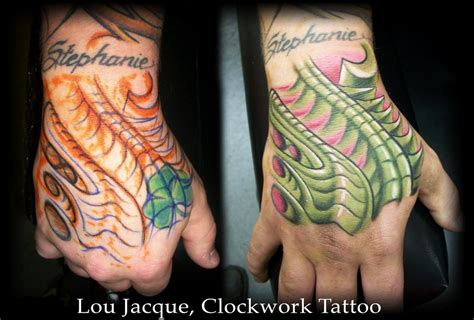 tattoo hand covers biomech hand cover up by lou jacque tattoonow