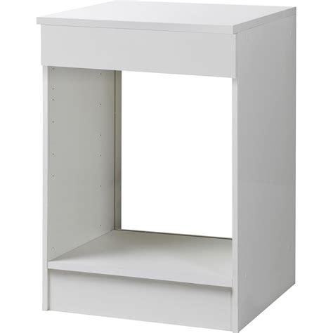 four de cuisine meuble de cuisine bas four blanc h86x l60x p60cm leroy