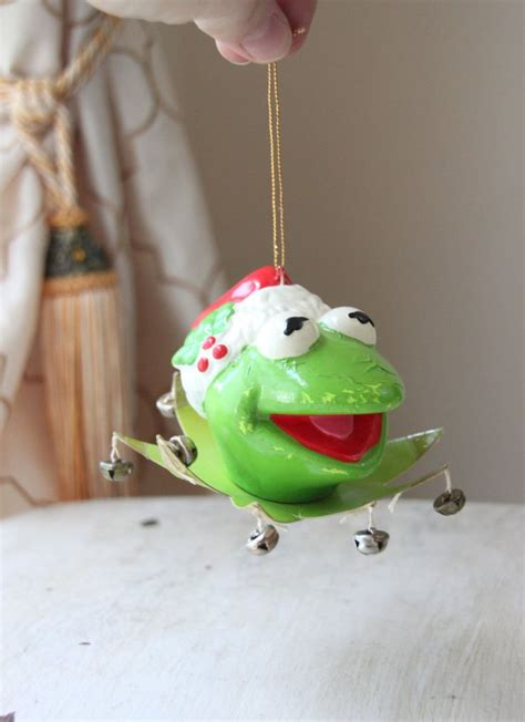 kermit frog christmas ornament 1979 kermit the frog ornament sesame pbs jim henson 1981 muppets kid s
