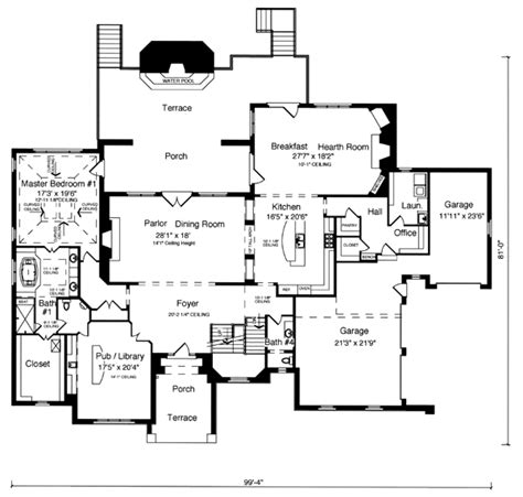 tudor mansion floor plans tudor house plans english tudor house plans english