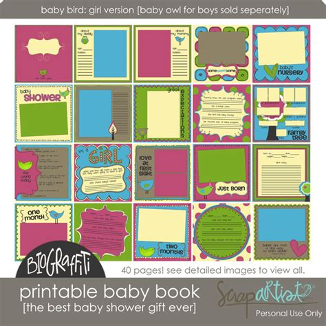 printable baby book giveaway simple scrapper