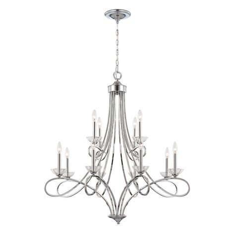 Polished Nickel Chandeliers Eurofase Volte Collection 12 Light Polished Nickel Chandelier 23099 012 The Home Depot