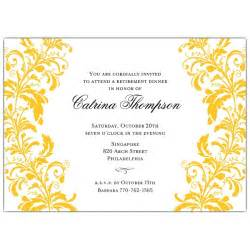 Invitations branches gold on white retirement dinner invitations