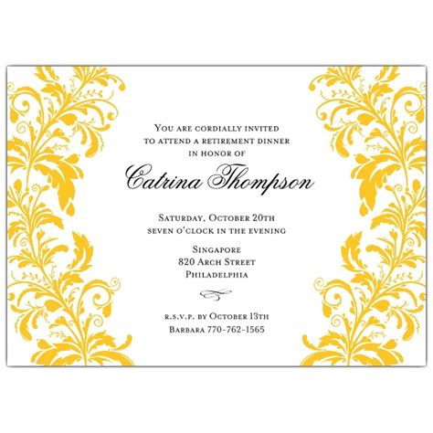 retirement dinner invitation template invitations retirement invitation wording